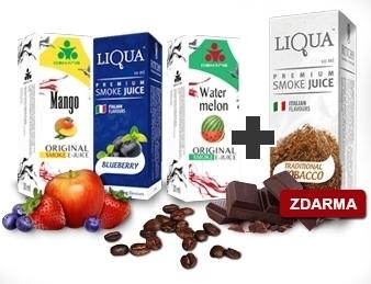 3 e-liquidy akce 1 zdarma
